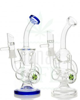 aus Glas BLACK LEAF Glasbubbler 'Recycled' | 21,5 cm