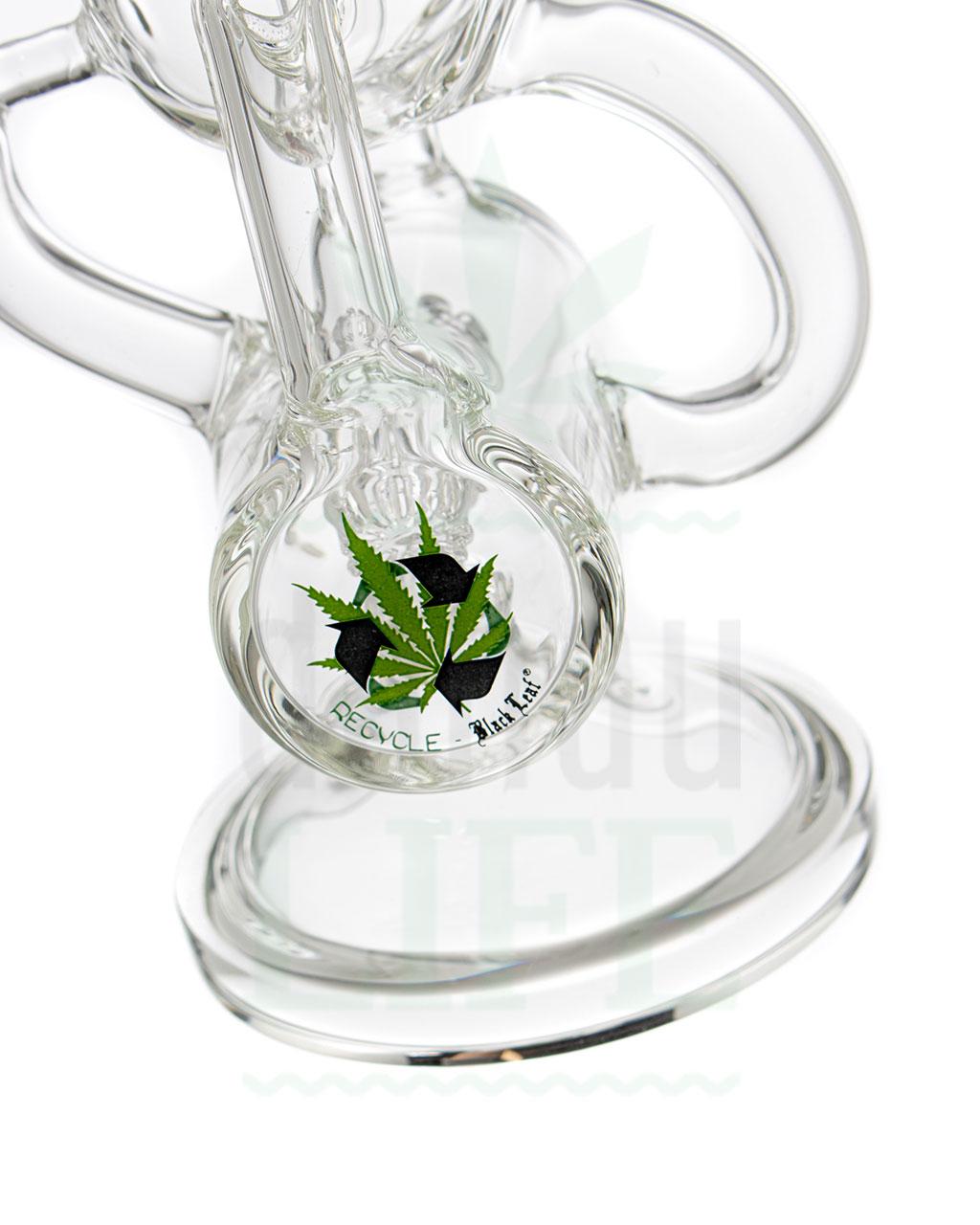 Black Leaf BLACK LEAF Glasbubbler 'Recycled' | 21,5 cm