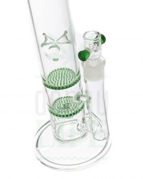 aus Glas BLACK LEAF Honeycomb Bong 'X2 mini' | 38 cm