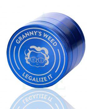 4-teilig GRANNYSWEED Grinder 4-teilig blau | Ø 55 mm