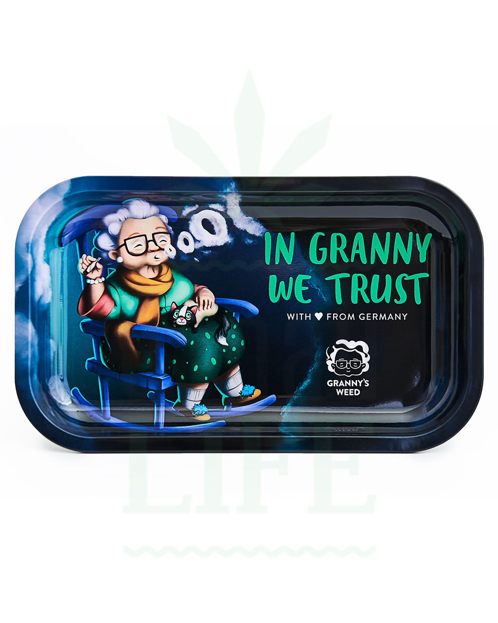 aus Metall GRANNY´S WEED Rolling Tray | 'In granny we trust'
