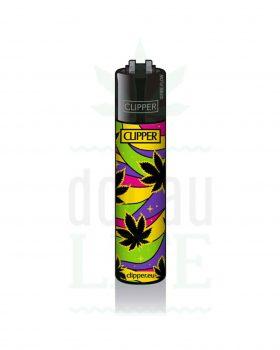 Anzünder CLIPPER Bong Feuerzeug 'Leafes No. 3' | gelb
