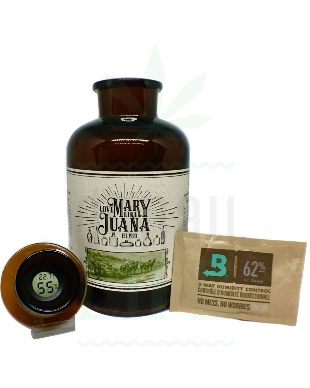 Aufbewahrung LOVE MARY LIKE JUANA Mary in a Bottle | Braunes Glas
