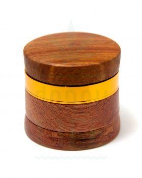 4-teilig Holz Grinder mit Aluminiummahlwerk 4-teilig | Ø 60 mm