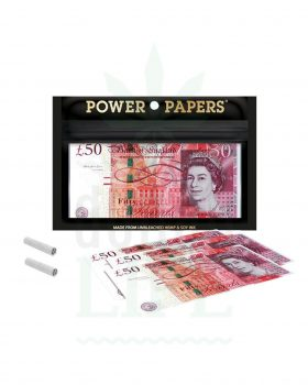 aus Hanf POWER PAPERS '50 Pounds Schein' Paper Kingsize