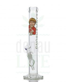 aus Glas BLACK LEAF Kanzlerbong 'Merkel Edition' | 38 cm