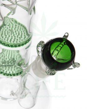 18,8 mm GRACE GLASS Flutschkopf 'Drachenklaue' grün | 18,8 mm