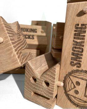 Aufbewahrung SMOKINGBLOCKS Bauunterlage | Eichenholz