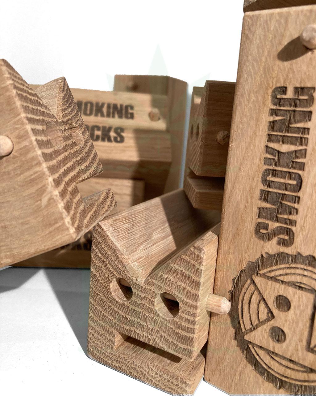 Aufbewahrung SMOKINGBLOCKS Bauunterlage   Eichenholz