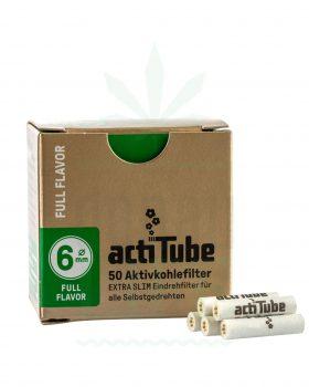 actiTube ACTITUBE Slim Aktivkohlefilter 50 Stück | Full Flavor