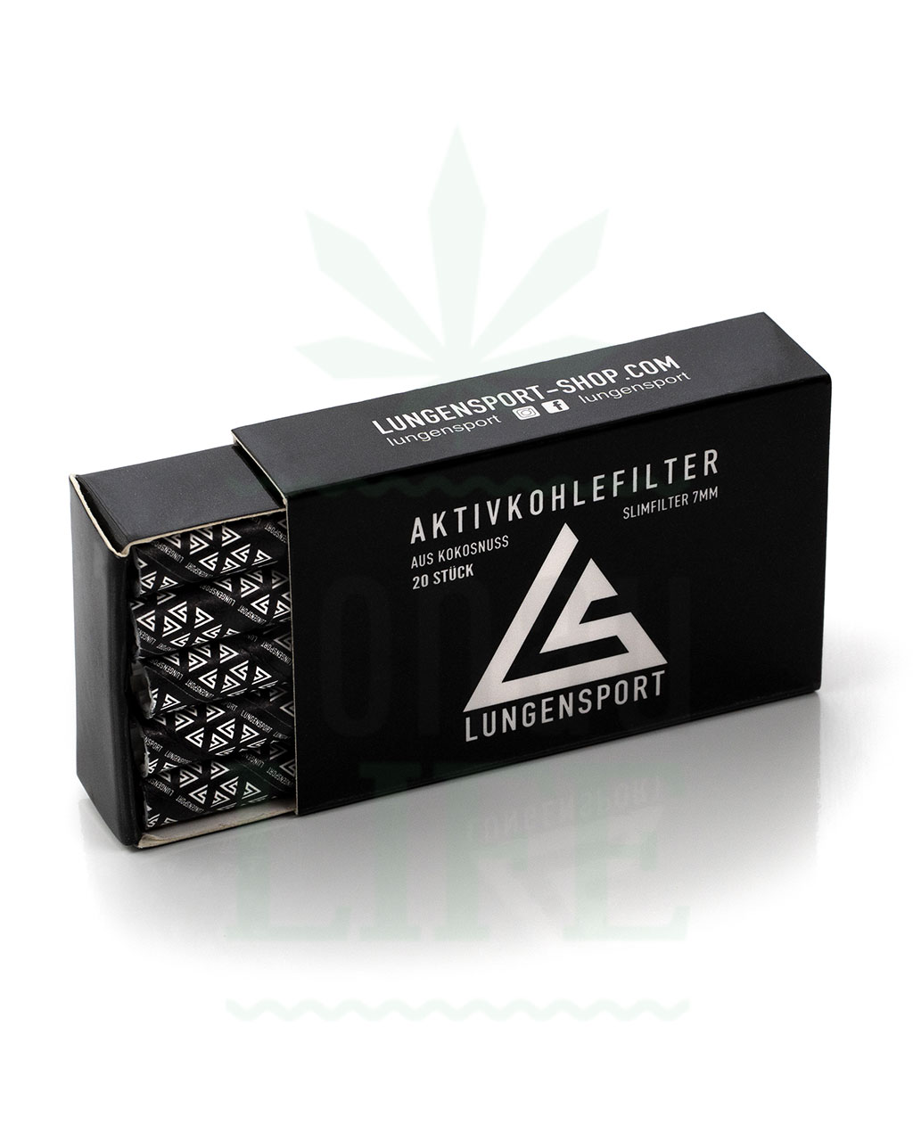 actiTube LUNGENSPORT Slim Aktivkohlefilter 200 Stück | 7 mm