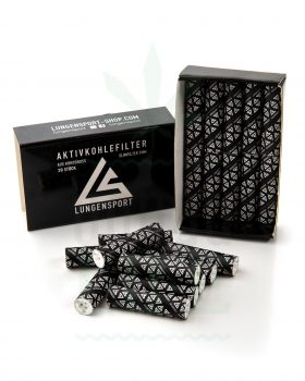 actiTube LUNGENSPORT Slim Aktivkohlefilter 20 Stück | 7 mm