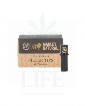 Filter & Aktivkohle MARLEY NATURAL Glasfilter schwarz 6er | 7 mm