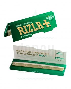 Beliebte Marken RIZLA+ Regular Size Papers Silver/Blue/Green | 50 Blatt