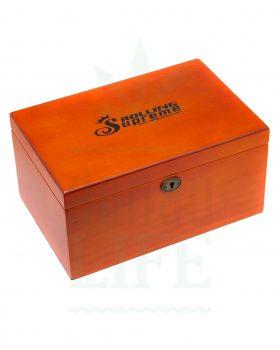 Aufbewahrung ROLLING SUPREME G7 Premium Holzbox mit Schloss | Fichte