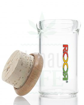 Aufbewahrung ROOR Glasdose mit Holz-Kork Deckel | 75 ml