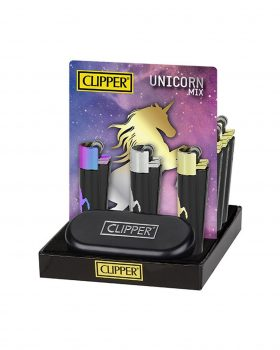 Headshop CLIPPER Metall Feuerzeug 'Unicorn'