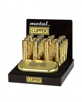 Headshop CLIPPER Metall Feuerzeug 'Gold Standard'