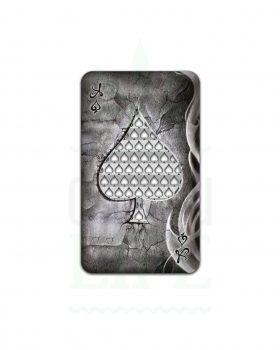 Edelstahl Grinder V SYNDICATE Grinder Card 'Royal Highness Ace' | Kreditkarten Format