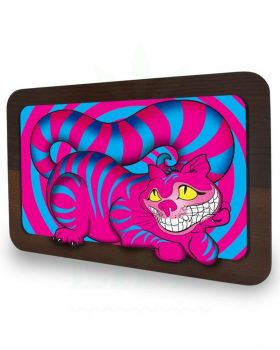 aus Glas V SYNDICATE 3D Rolling Tray | 'Grinsekatze'