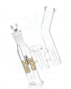 aus Glas HEISENBERG Bubbler 'Triple Double Bubble' | 26,5 cm