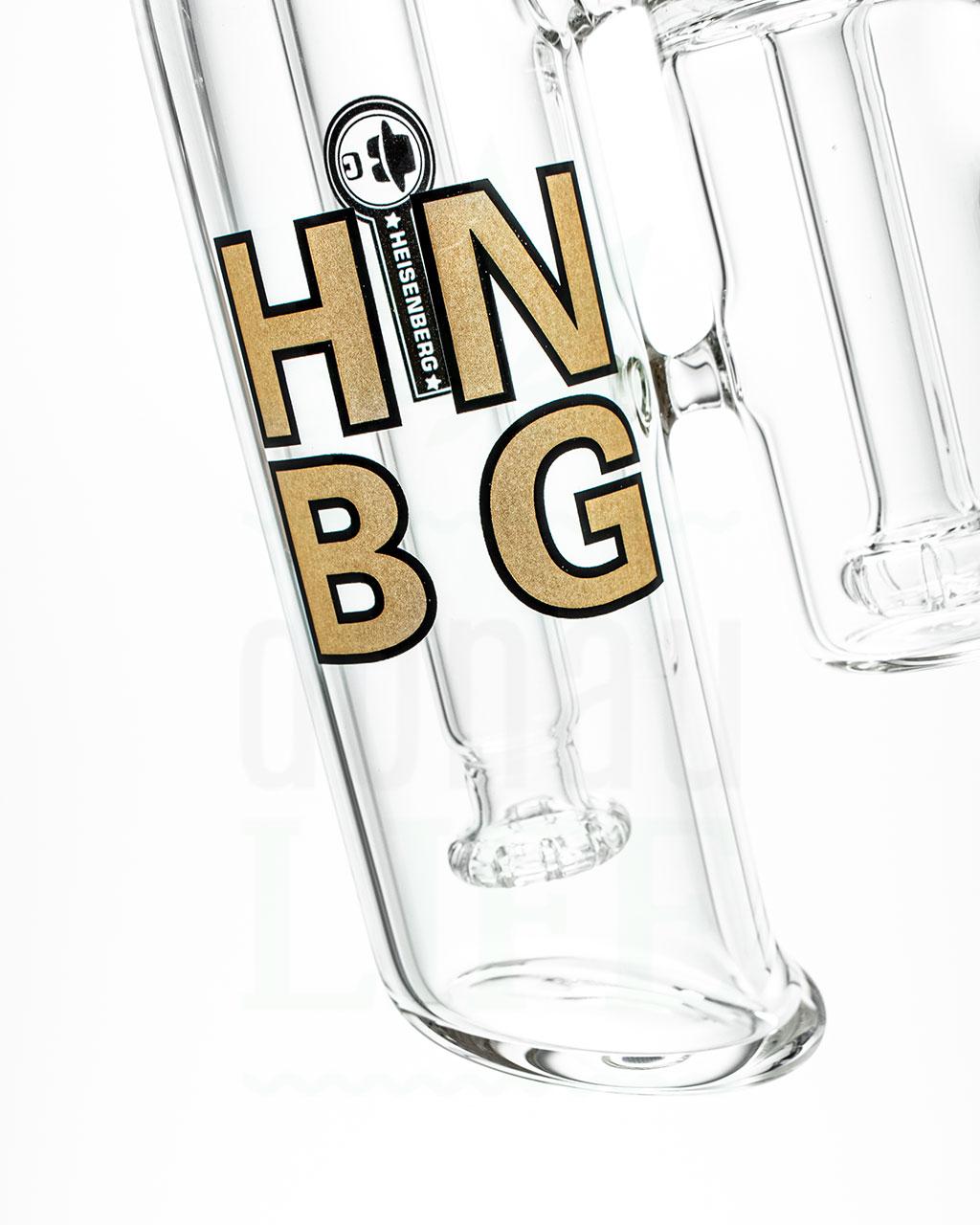 aus Glas HEISENBERG Bubbler 'Triple Double Bubble' | 26,5 cm