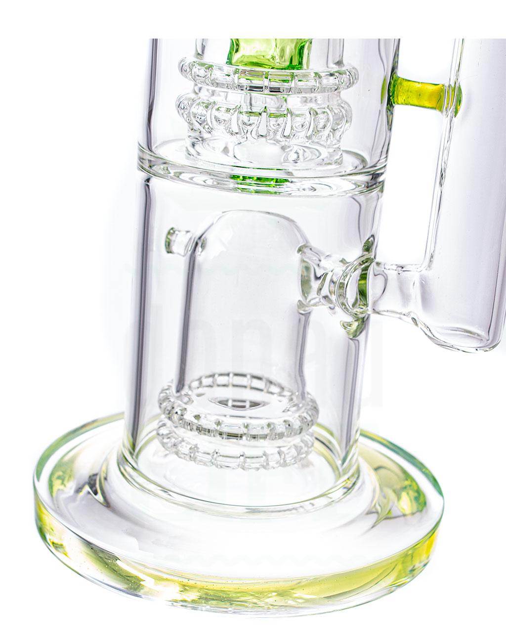 aus Glas D-lux Bubbler 'Grüner Slimmy' | 36 cm