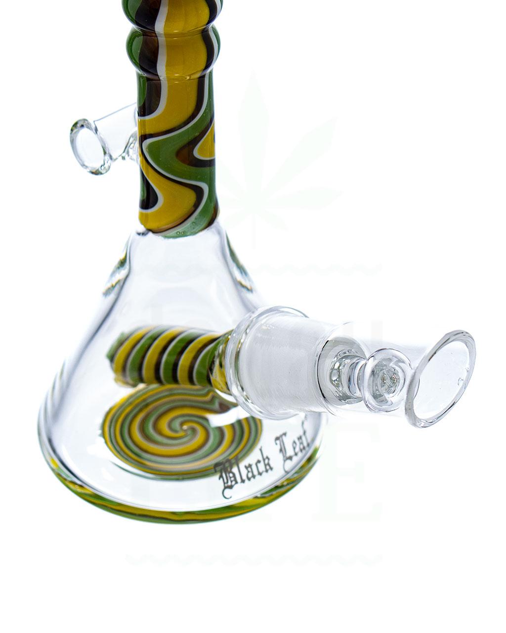 aus Glas BLACK LEAF  Miniölbong 'Samba'  13,5 cm