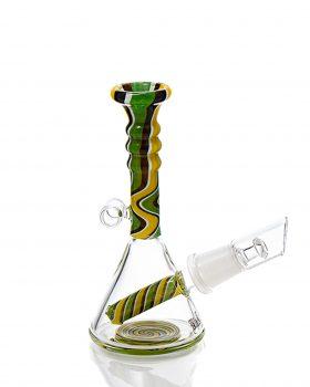 aus Glas BLACK LEAF  Miniölbong 'Samba'| 13,5 cm