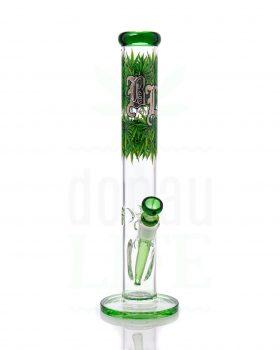 aus Glas BLACK LEAF  Glasbong 'Leaves4' mit Eiskerben | 40 cm