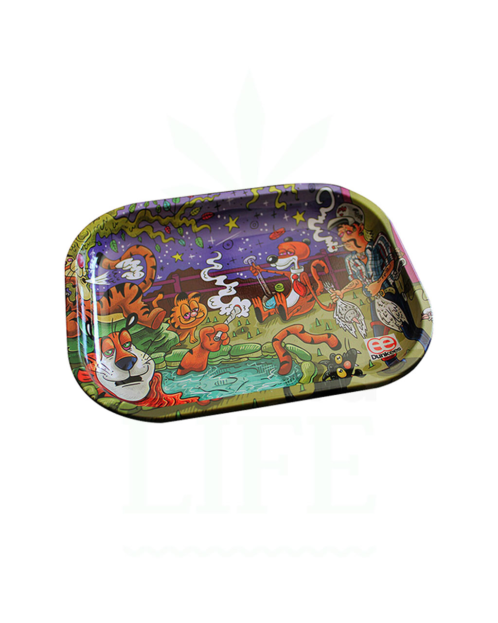 aus Metall DUNKEES Rolling Tray | 'King of Tigers'