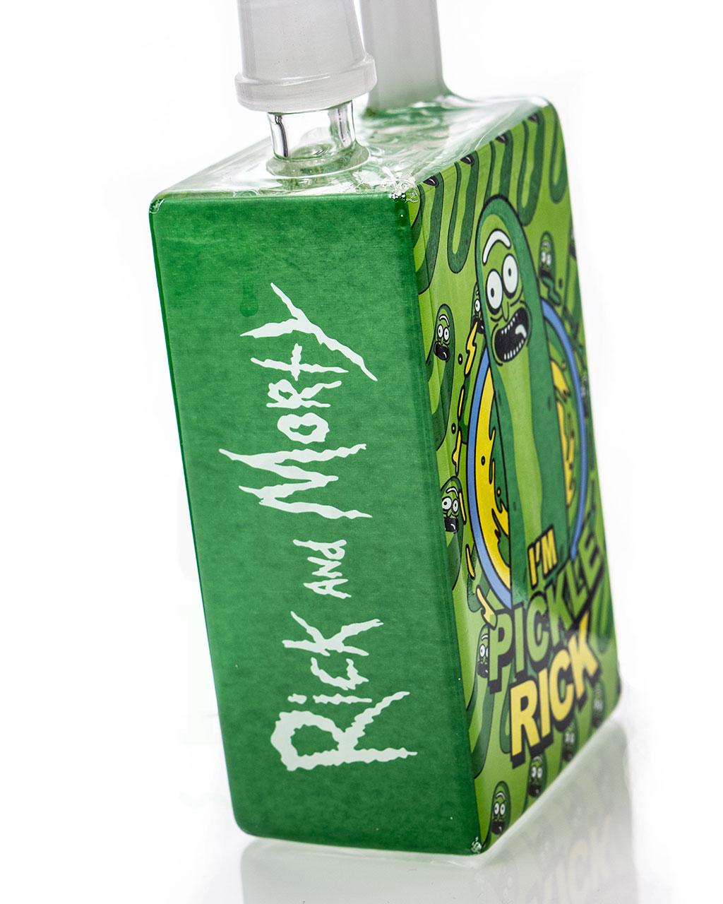 aus Glas Minibong 'Pickle Rick'   19 cm