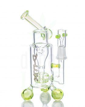 aus Glas D-LUX Bubbler 'Slime Green' | 19 cm