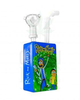 aus Glas Minibong 'Rick and Morty' | 19 cm