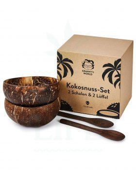 Aschenbecher GRANNY´S WEED Kokosnussschalen Set