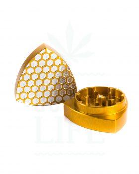 2-teilig GLEICHDICK Aluminium Grinder 2-teilig Limited Ed. Honeycomb | Ø 42 mm